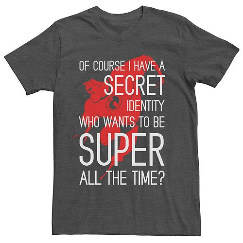 Men's Disney Pixar Incredibles Secret Identity Graphic Tee