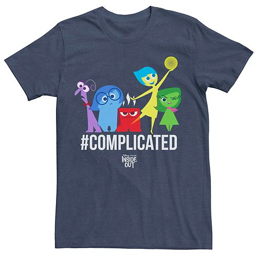 Men's Disney Pixar Inside Out Complicated Group Graphic Tee