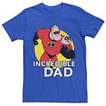 Men's Disney Pixar Incredibles 2 Incredible Dad Graphic Tee