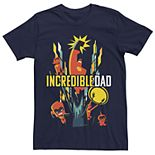 Men's Disney Pixar Incredibles 2 Incredible Dad Group Shot Graphic Tee
