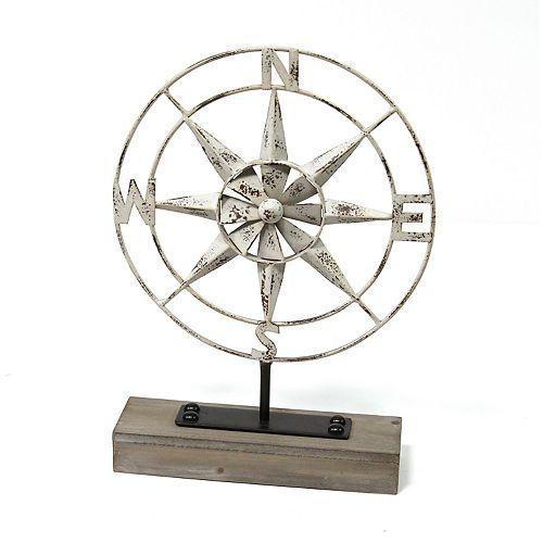 Stratton Home Decor Faux Compass Table Decor