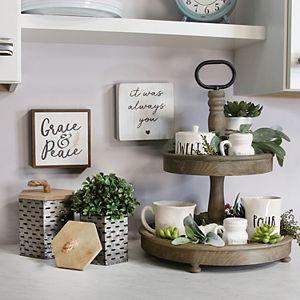 Stratton Home Decor Tiered Decorative Stand Table Decor