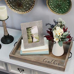 """Stratton Home Decor """"Gather"""" Decorative Tray Table Decor"""