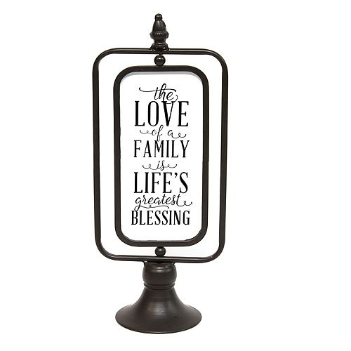 "Stratton Home Decor ""The Love of a Family"" Metal Table Decor"