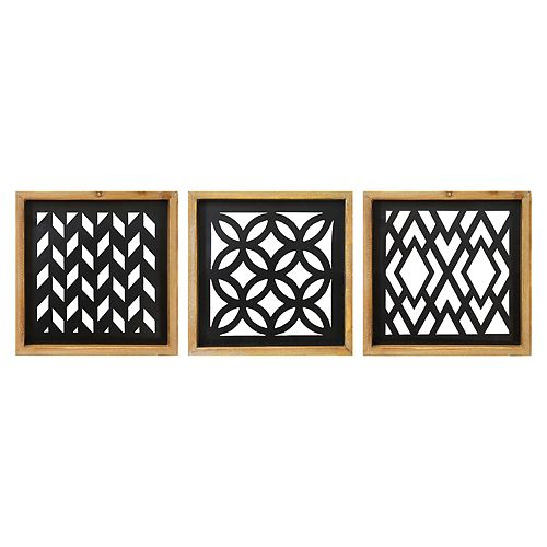 Stratton Home Decor Modern Laser Cut Wall Decor 3-piece Set