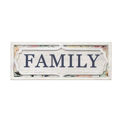 "Stratton Home Decor ""Family"" Wall Decor"