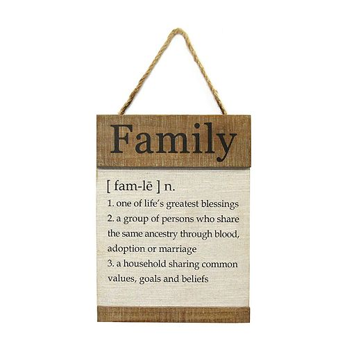 Stratton Home Decor Family Definition Wall Decor