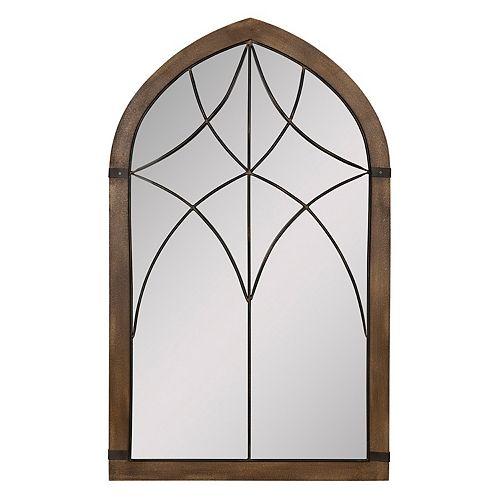 Stratton Home Decor Augusta Cathedral Wall Mirror