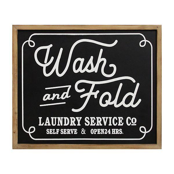 Stratton Home Decor Wash Laundry Wall Decor