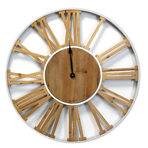 Stratton Home Decor Franklin Wall Clock