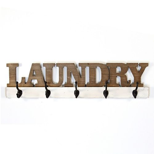 Stratton Home Decor Laundry 5-Hook Wall Decor