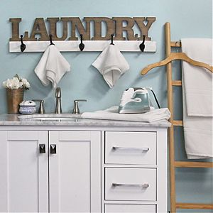 Stratton Home Decor Laundry 5-Hook Wall Decor