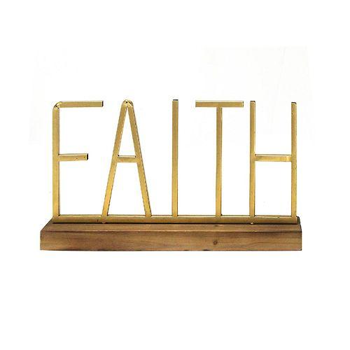Stratton Home Decor Faith Table Decor