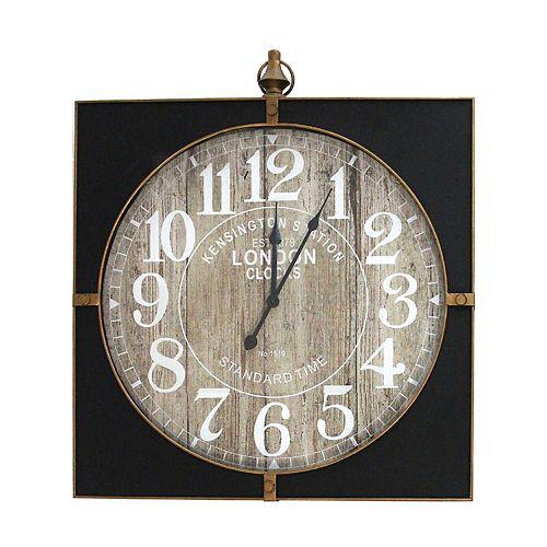 Stratton Home Decor Jordan Wall Clock