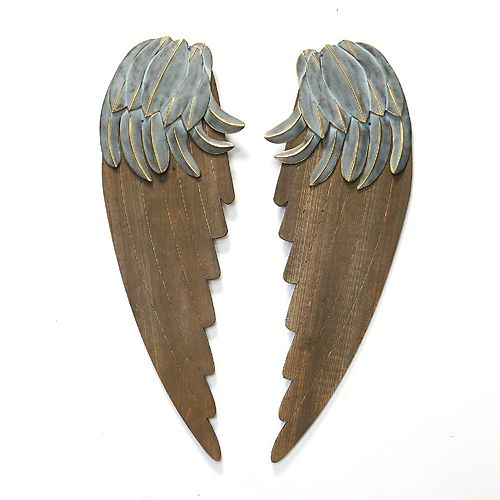 Stratton Home Decor Rustic Angel Wings Wall Decor