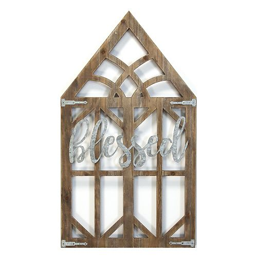 Stratton Home Decor Blessed Window Wall Decor