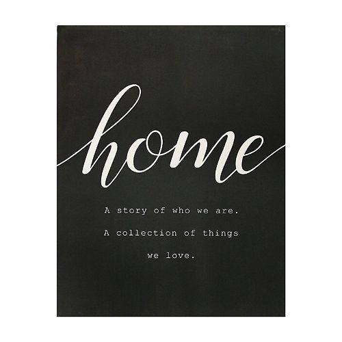 "Stratton Home Decor ""Home"" Wall Decor"