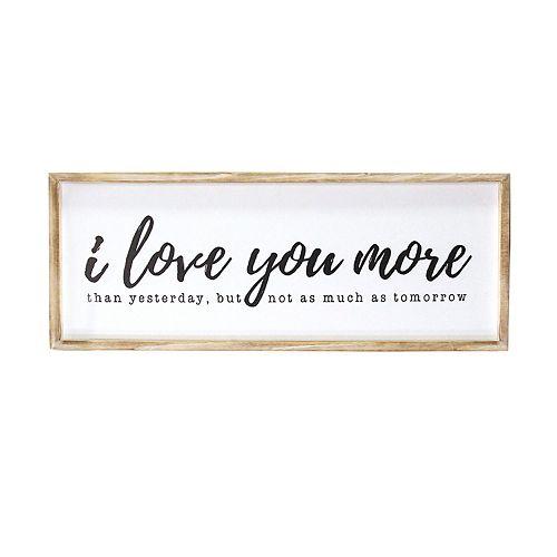 """Stratton Home Decor """"Love You"""" Wall Decor"""