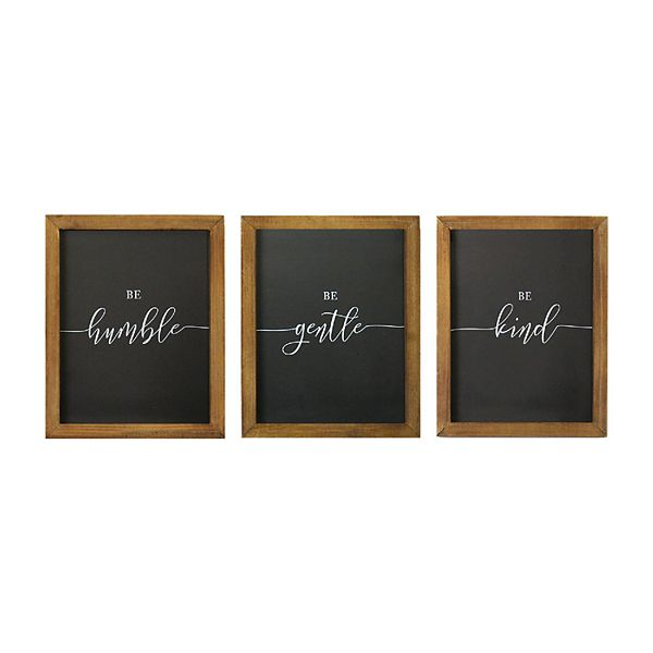 Stratton Home Decor Humble Gentle Kind Wall Decor 3 Piece Set
