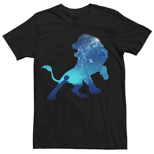 Men's Disney Lion King Simba Night Sky Silhouette Tee