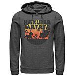 Men's Disney Lion King Hakuna Matata Silhouette Retro Group Shot Hoodie