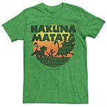 Men's Disney Lion King Hakuna Matata Silhouette Retro Group Shot Tee