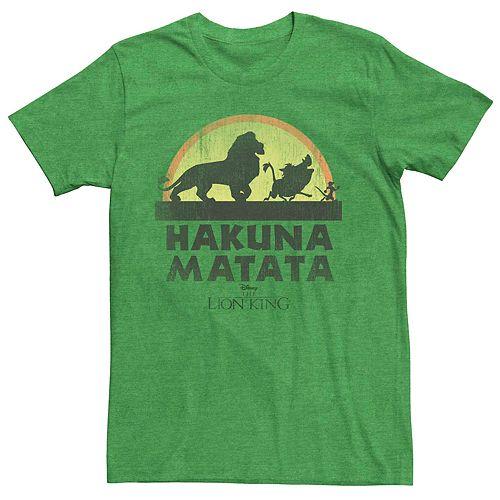 Men's Disney Lion King Hakuna Matata Vintage Sunset Walk Tee