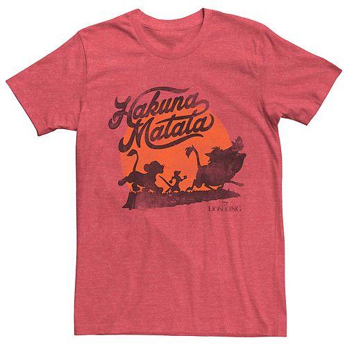 Men's Disney Lion King Hakuna Matata Vintage Sunset Logo Tee