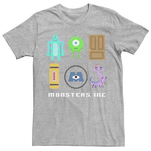 Men's Disney Pixar Monsters Inc Pixel Squad Tee