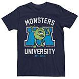 Men's Disney Pixar Monsters University Mike Logo Tee