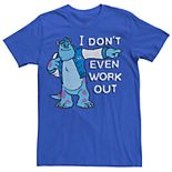 Men's Disney Pixar Monsters University Sulley I Don't Work Out Tee