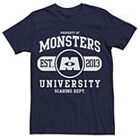 Men's Disney Pixar Monsters University School Logo Tee