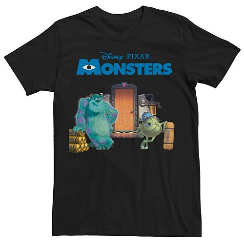 Men's Disney Pixar Monsters Mike And Sulley Door Crew Tee