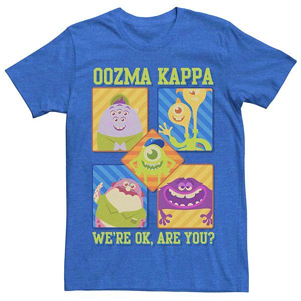 Men S Disney Pixar Monsters University Oozma Kappa Cartoon Group Tee
