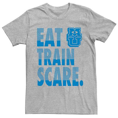 Men's Disney Pixar Monsters University Eat Train Scare Tee