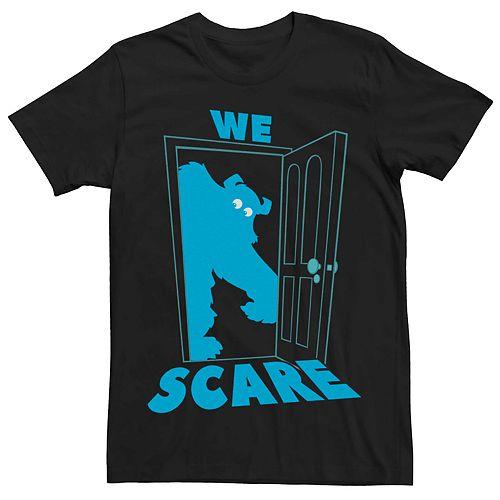 Men's Disney Pixar Monsters Because Sulley Door We Care Tee