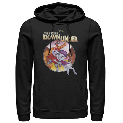 Men's Disney Rescuers Down Under Rescued Classic Poster Hoodie