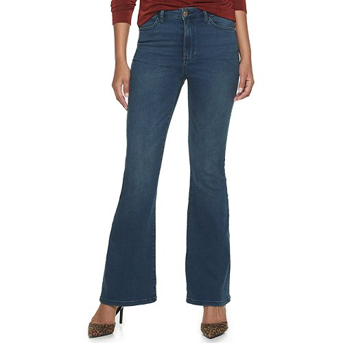 Women's Jennifer Lopez Flawless Sculpt High-Waisted Flare Jeans