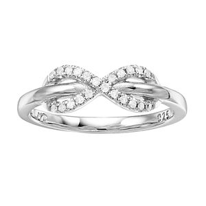 I Promise You Sterling Silver 1/10 Carat T.W. Diamond Infinity Ring