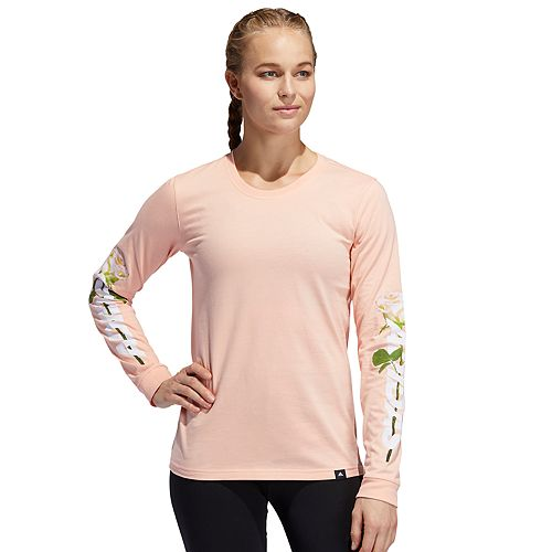 Women's adidas Floral Long Sleeve Graphic Tee