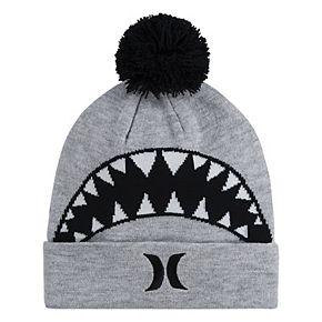 Boys 4-20 Hurley Icon Shark Pom Beanie