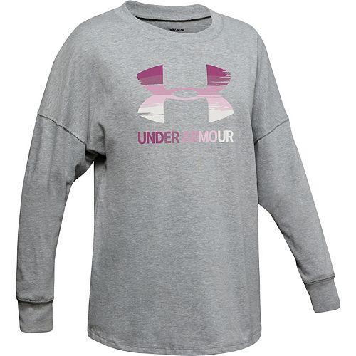 Girls 7-16 Under Armour Drop Shoulder Logo Graphic Tee