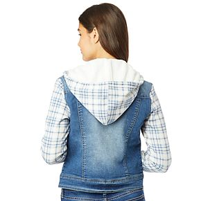 Juniors' Wallflower Knit Sleeve Dreamer Jacket