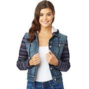 Juniors' Wallflower Knit Sleeve Dreamer Jacket