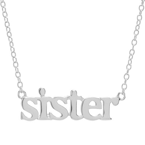 """Sterling Silver 16"""" """"Sister"""" Necklace"""