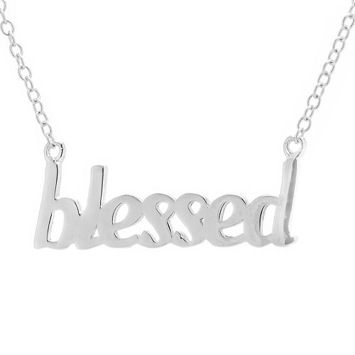 """Sterling Silver """"Blessed"""" Necklace"""