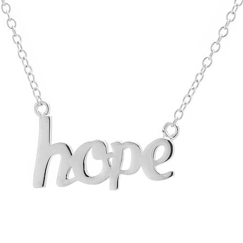 "Sterling Silver 16"" ""Hope"" Necklace"