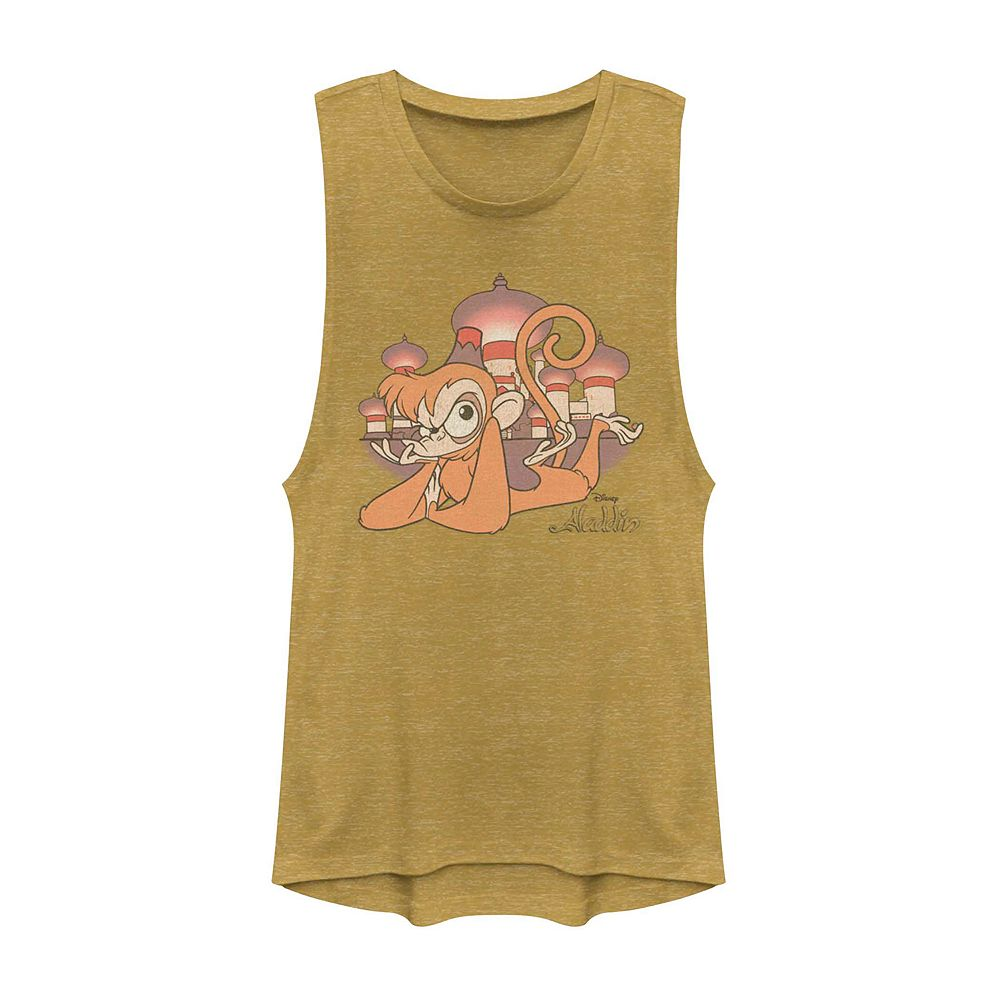 Juniors' Disney's Aladdin Abu Graphic Muscle Tank