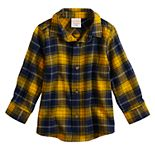 Baby Boy Jumping Beans® Plaid Flannel Button-Up Shirt