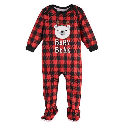 Baby Jammies For Your Families Cool Bear Footed Pajamas by Cuddl Duds